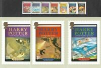 Harry Potter PHQ cards set + set of stamps 2007-Official Great Britain mnh
