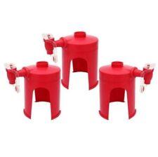 Fizz Saver Soda Beverage Dispenser (Red) Set of 3