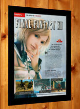 Final Fantasy XII 12 / Tony Hawk's Project 8 Small Poster / Ad Page Framed PS2