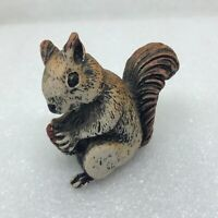 Vintage Squirrel Figurine Holding Nut Made in Taiwan