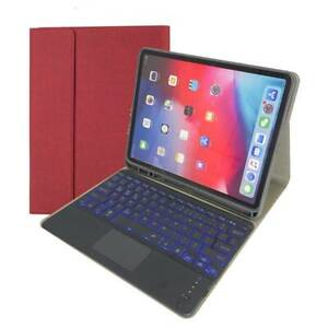"""Backlit Touchpad Keyboard PU Case Cover For iPad Pro 12.9"""" 2020 2018 2017 2015"""