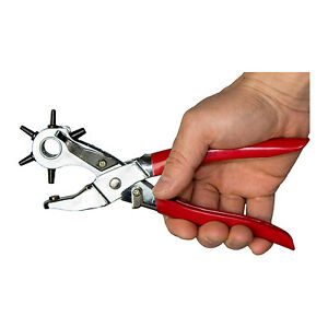6-Sizes Heavy Duty Hole Punch, Leather Paper Belt Crafts Eyelets Pliers NEW