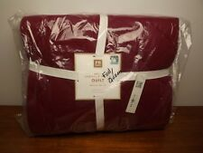 NWT Pottery Barn Teen NFL Chenille Patch Red Full Queen Quilt~