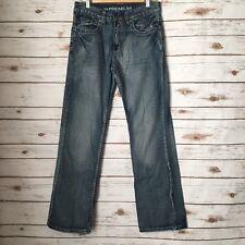 Route 66 Men's Sz 30x32 Slim Bootcut Factory Distressed Button Flap Jeans