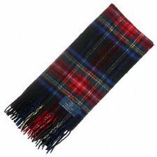 New Long Neck Fashion Black Stewart Tartan Scarf - Scottish Wool Clan Scarves