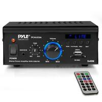 80W HOME STEREO DIGITAL AUDIO SPEAKER POWER AMP AMPLIFIER SYSTEM USB MP3 PLAYER