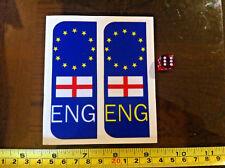 ENG England Flag Europe Car Number Plate Front Back Sticker Car Vehicle