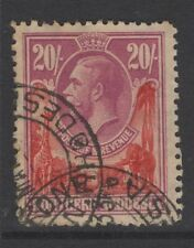 NORTHERN RHODESIA SG17 1925 20/= CARMINE-RED & ROSE-PURPLE USED