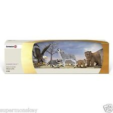 GERMANY SCHLEICH WORLD OF NATURE MODEL SH41384 NORTH AMERICAN ANIMAL FAMILY