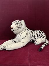 PLUSH WHITE TIGER GREEN EYES-JUNGLE WILDCAT Stuffed ANIMAL Kelly Toy USA 40 +""