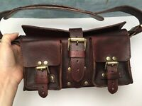 mulberry Handbag Hand Dyed In Mahogany Mini Roxanne Blenheim Darwin Leather