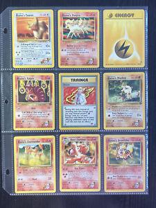 9 card Pokemon BLAINE 100/132 GYM CHALLENGE RARE NON HOLO Pokémon TCG WOTC +MORE