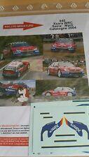 Decals 1/43 réf 840  Citroën Xsara Wrc Sainz   Catalogne  2004