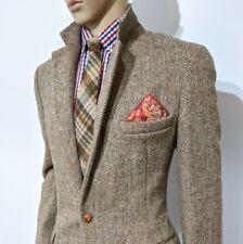 Vtg 1940 Harris Tweed Mens Bespoke Shooting Jacket Sport Coat Herringbone UK 40L