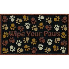 Wipe your PAWS Home Entry Door Rubber Floor MAT 18x30