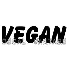 Vegan Text Vinyl Sticker Decal Vegitarian - Choose Size & Color
