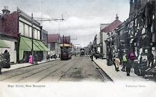 High Street Tram New Brompton Gillingham Nr Chatham old pc used 1905 Valentines