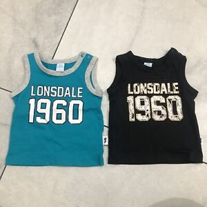 Lonsdale London  Baby Singlet X 2 As New Size 0-3 Months Large Fit