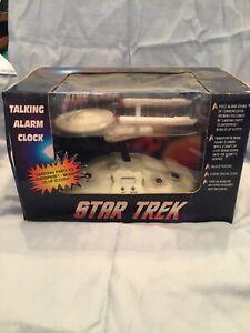 Star Trek Talking Alarm Clock in original box 1994 Top Banana