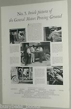 1929 General Motors advertisement, auto testing, proving ground