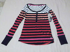 Women's/Juniors GARAGE CLOTHING STRIPED HENLEY TOP SIZE XSMALL - NWT