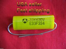 12 pc - .33uf  630v (0.33uf, 330nf)  Thomson NP axial metalized poly capacitors
