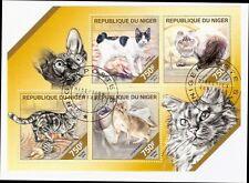 Katzen Cats 2014 Niger used sheet of 4  Mi 2850-53 CV-12,0 €