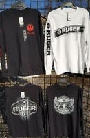 Ruger t-shirt Lot Of 4 Long Sleeve, 4 Different Designs NEW  w/tags Adult SMALL