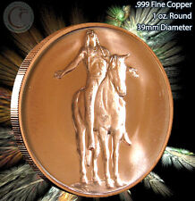 """""""Hail to the Great Spirit"""" American Indian Series Copper 1 oz .999 Copper Round"""