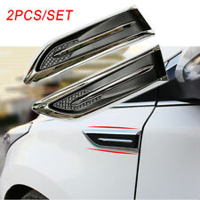 Car Side Body Trim Simulation Air Vent Flow Intake Grille Decorate Sticker Parts