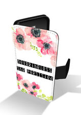 Nevertheless She Persisted Quote Feminist Flower Wallet Leather Phone Case