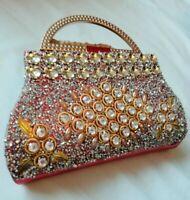 Women's Sequins Envelope Bag Glittered Evening Party Purse Clutch Handbag UK