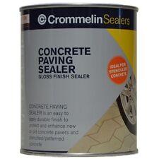 Crommelin CONCRETE PAVING SEALER 1L Re-Coated Wet Look Gloss Finish AUS Brand
