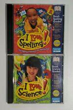 I Love Spelling & I Love Science Pc Cdrom Dk Learning Software Kids Home School