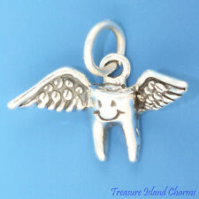 TOOTH FAIRY LOSING FIRST BABY TOOTH .925 Sterling Silver Charm Dentist Dental