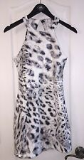 NWT $300 Parker Snow Leopard Sequin Shift Sexy Cut Out Cocktail Dress Women's S