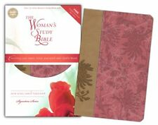 NKJV The Woman's Study Bible, Personal Size, Fabric/leathersoft, pink/caf&#233