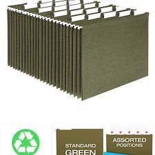 Pendaflex Hanging File Folders Letter Size Standard Green 15 Cut Adjustab