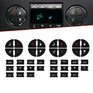 2Pcs AC Button Repair Kit Dash Replacement For 07-13 GM Vehicles Decal Sticker