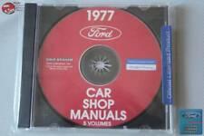 1977 Ford Car Shop Repair Manuals 5 Volumes CD Rom Disc PDF New
