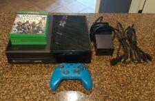 Xbox One 500GB console - black w/ blue controller & 4 games