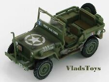 """Hobby Master 1:48 Willys Jeep French Army """"Mort Aux Cons"""" Europe 1944 HG1609"""