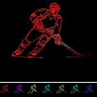 LED Night Light Gifts 7 USB Changer Table Colors 3D HOCKEY 3D illusion Desk Lamp
