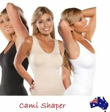 Women Slimming Camisole Tank Top Genie Bra Body Shaper Control Vest Cami BML