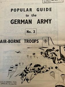 Original ww2 popular guide to the German army airborne troops home guard issued
