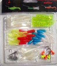 Kit de leurres souples et tête plombées 45 pièces pêche ultra light