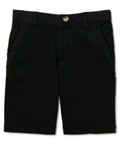 Wonder Nation Boys Flat Front Shorts Size 16 BLACK School Uniform Approved