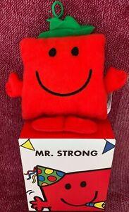 Mr Strong Mcdonalds Mr Men 2021 Soft Toy Bag Tag Xmas Tree Decoration UK New Box