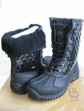 UGG ADIRONDACK WOMEN WINTER BOOTS QUILTED BLACK US 10 /UK 8.5 /EU 41