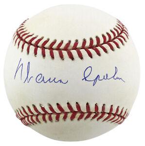 Braves Warren Spahn Authentic Signed Onl Baseball Autographed BAS #H93801
